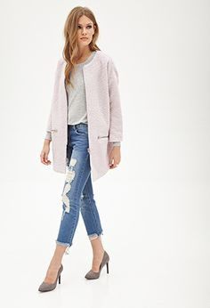 """{Retro Inspired Boucle Coat in Pink - under $50 + take 10% off w/ code """"10KTFDT"""", limited time only}"""