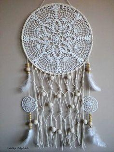 Project R, Lace Dream Catchers, Crochet Dreamcatcher, Doilies, Wind Chimes, Free Pattern, Crochet Patterns, Dreamcatchers, Knitting