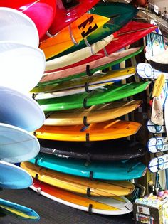 surfboards in shop