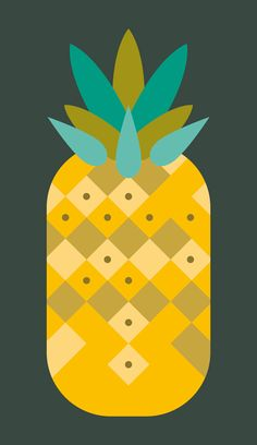 I'm a french graphic designer, illustrator and film scholar. I love geometric shapes, yellow glow, vectors and silk screen printing. Pineapple Wallpaper, Pineapple Art, Pineapple Nails, Pineapple Illustration, Silk Screen Printing, Simple Shapes, Food Illustrations, Botanical Prints, Cute Art