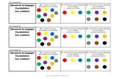 Brevet-Vocabulaire-couleurs Teaching Tools, Teaching Resources, Acquisition, Grande Section, Maths, School, Peda, Teaching, Teacher Tools