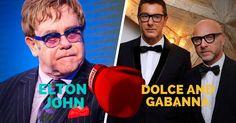 Elton John vs Dolce and Gabanna. #EltonJohn #DolceandGabban