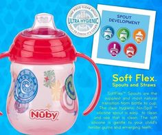 this cup now before its released on May Bellissimi Bambini: Introducing the Nuby Designer Series Grip n' Sip! Baby Bottles, Drink Bottles, Cup Design, Things To Come, Giveaway