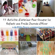 J'ai décidé de lister les meilleures idées d'activités intérieures à tester pendant l'hiver. Toutes sont faciles à faire et amusantes pour les enfants :-) Découvrez l'astuce ici : http://www.comment-economiser.fr/11-super-activites-interieures-pour-occuper-enfants-en-hiver.html?utm_content=buffera1237&utm_medium=social&utm_source=pinterest.com&utm_campaign=buffer