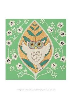 Love this collection of owl prints by Helen Rhodes.