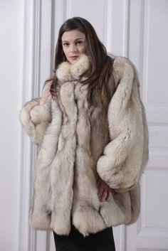 88fd6811307a Fox fur jacket giaccone pelliccia volpe groenlandia veste fourrure renard  мех