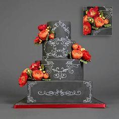 Beautiful chalkboard cake