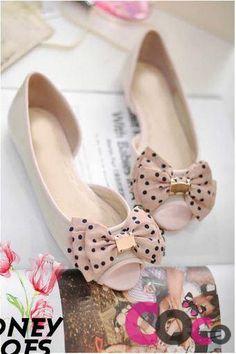 Cute Peep-toe Flats