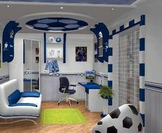 Boy's bedroom ideas and decor inspiration; from kids to teens Are you planning to decorate your boy's bedroom? If that is the case, you will need Boy Bedroom Ideas to get started. Awesome Bedrooms, Cool Rooms, Bedroom Themes, Bedroom Decor, Bedroom Furniture, Master Bedroom, Bedroom Curtains, Bedroom Designs, Modern Study Rooms