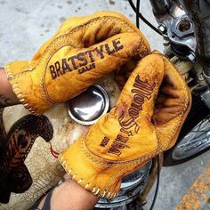 Paire de gants moto Motostuka Bratstyle USA / Série Limitée / Import Japon / NEW #Gantsdeville