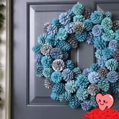 Pine cone wreath we believe you will love it pinecone pineconewreath wreath diy handamde dearlives diy pinecone flowers with stems Wreath Crafts, Diy Wreath, Holiday Crafts, Christmas Diy, Christmas Pine Cone Crafts, White Wreath, Pine Cone Art, Painting Pine Cones, Pine Cone Flower Wreath