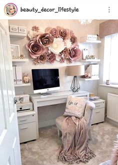 home office ideas for women * home office ; home office ideas ; home office design ; home office decor ; home office organization ; home office space ; home office ideas for women ; home office setup Cozy Home Office, Home Office Space, Home Office Design, Home Office Decor, Home Design, Office Designs, Design Ideas, At Home Office Ideas, Office Workspace
