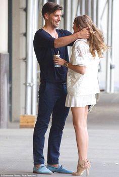 So in love... Olivia Palermo and her boyfriend Johannas Huebl enjoyed a romantic stroll around New York City on Monday