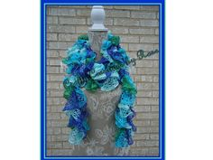 Ready to ship Long Ruffle Scarf Crochet Scarf by CCBR2014 on Etsy