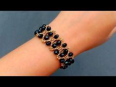 Beaded Bracelets Tutorial, Beaded Bracelet Patterns, Woven Bracelets, Seed Bead Bracelets, Seed Bead Jewelry, Bead Jewellery, Seed Beads, Handmade Wire Jewelry, Beaded Jewelry Designs