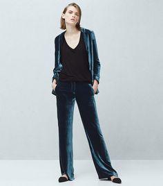 Mango Velvet Blazer ( $150 ) ($60) and Velvet Trousers ($60)