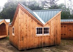 Check out our shed plans selection for the very best in unique or custom, handmade pieces from our home & hobby shops. Diy Storage Shed Plans, Storage Building Plans, Diy Shed, Building A Shed, Small Prefab Cabins, Prefabricated Houses, Backyard Sheds, Backyard Retreat, Cabin Kits For Sale