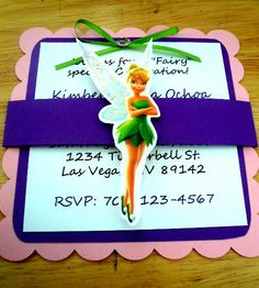 Tinkerbell Invitation birthday baby shower by LCCreations09 :)