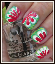 Southern Sister Polish: Watermelon Water Marble