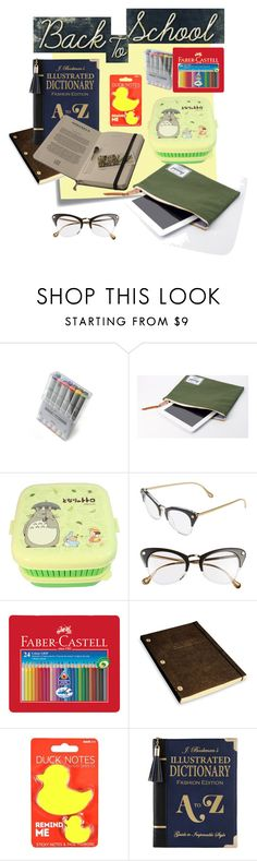"""""""Yes Mama I'm Doing My Homework"""" by greenbeetleherder ❤ liked on Polyvore featuring interior, interiors, interior design, home, home decor, interior decorating, Post-It, Hershel Supply Co., Elizabeth and James and Faber-Castell"""