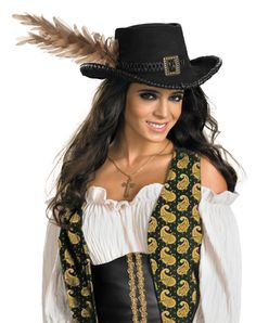 Pirates of The Caribbean Deluxe Angelica Pirate Hat Adult Size  b67fdead05f0