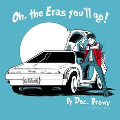 Dr. Seuss Style Art for BACK TO THE FUTURE