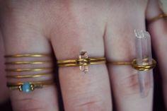 Herkimer Diamond Ring Tiny Raw Herkimer Diamond by BEADANDBONES Etsy Jewelry, Handmade Jewelry, Raw Gemstones, Herkimer Diamond, Beaded Rings, Black Diamond, Diamond Engagement Rings, Gold Rings, Jewelery