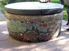 The well covered with mosaic