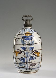 Buy online, view images and see past prices for HABAN BOTTLE WITH A TIN SCREW CAP. Invaluable is the world's largest marketplace for art, antiques, and collectibles. Screw Caps, Ceramic Design, Bottles And Jars, Home Art, Tin, Christmas Bulbs, Hungarian Embroidery, Antiquities, Delft