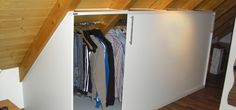 Ikea Storage Wall Selber Compile ~ Wardrobe Slope Reference in F . House Design, Ikea Storage, Built In Wardrobe, Wall, Home Decor, Attic Rooms, Home Diy, Storage, Kitchen Design