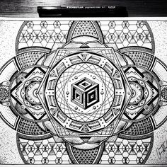 Artwork by @glennlthomson Collab coming soon. #awak3n #sacredgeometry #freeyourmind