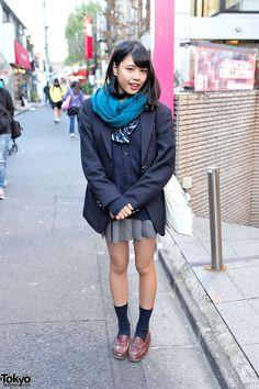 Harajuku Girl in Japanese School Uniform