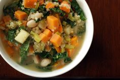 White Bean, Quinoa And Kale Stew with Fennel