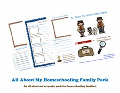 Get your free printable: All About My Homeschooling Family.