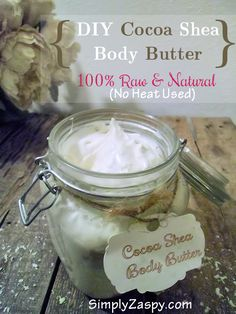 This Cocoa Shea DIY body butter is completely natural and raw. Uses no heat, chemicals, or additives. Extremely moisturizing for skin, hair, & nails!