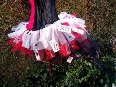 Queen of Hearts Wonderland Inspired White Red and Black Tutu Fancy Dress Halloween Fun. $36.00, via Etsy.