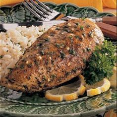 just had this tonight for dinner. amazing! (well, it was my lazy version of this recipe. didn't brown the chicken prior, just dumped it in the crock pot, covered with seasonings and lemon juice. i also added sliced lemons: perfection.)