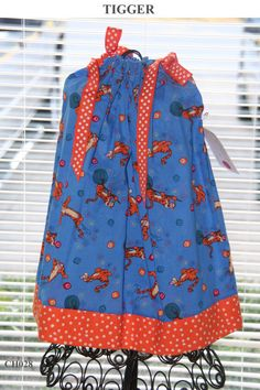 A boutique Pillowcase dress Featuring Tigger Sizes 3 Months thru 6/7 :CH028 on Etsy, $19.99