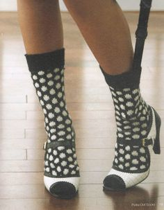 Knitting Pattern For Women's Polka Dot Socks by BusyBeaverBoutique, $4.00