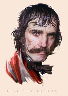 BILL THE BUTCHER ILLUSTRATION https://www.behance.net/gallery/33640673/Villains-of-Film