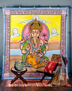 Beautiful Ganesh Tapestry Hippie Indian Tapestry by craftauraetsy, $19.99
