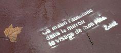 Pochoir Zalez Toulouse Extrait du texte Poésie urbaine et Slam du bitume