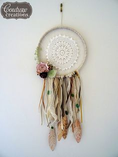 Let's Get Messy!: Vintage Rose Garden Dreamcatcher - Couture Creations DT