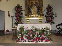 Plano del altar en la Ermita de Aravaca.