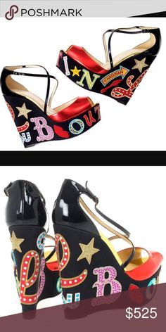 $2300 RARE CHRISTIAN BOUBOUTIN CRYSTAL ZEPPA WEDGE $2300 + TAX RETAIL SUPER RARE CHRISTIAN BOUBOUTIN SWAROVSKI CRYSTAL EMBROIDERED PATCH ZEPPA WEDGE SIZE 37/7 BUT SINCE ITS PEEP TOE THEY CAN FIT A 7.5-PURCHASED IN STORE VERY LIMITED EDITION- NO BOX BEC I COLLECT THEM. WORN 5x & JUST HAD BOTTOM PROFESSIONALLY COATED ON THE BOTTOM SO SOLES LOOK AMAZING. INSIDE IS CLEAN, BOTTOMS ARE CLEAN, ONLY A FEW STONES MISSING. ONLY 1 OTHER PAIR LIKE THIS LISTED HERE •PRICED TO SELL SAME DAY, OFFERS…