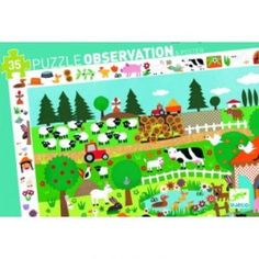 Djeco Farm Observation Puzzle - Toys and Games Ireland Puzzle Toys, 5 Year Olds, Clash Of Clans, Fine Motor Skills, Red Flowers, Games For Kids, 5 Years, Jigsaw Puzzles, Ireland