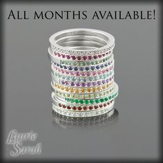 Sterling Silver Mothers Ring! Get one each for the month my babies were born!