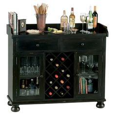Bar Cabinet... Looking for ideas for an old buffet/hutch that I have. I think something like this would be awesome!
