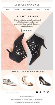 loeffler randall email design - Email Marketing - Start your email marketing Now. E-mail Marketing, Propaganda E Marketing, Email Marketing Design, Fashion Marketing, Newsletter Layout, Email Layout, Email Newsletter Design, Web Design, Layout Design