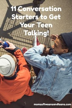 "How can I get my teen to talk? In my house sometimes conversations are not really actual conversations. Instead I find myself talking at my kids (""Take the trash out""), or my daughter asking me for a ride, or me lecturing endlessly. Parenting Teens, Parenting Advice, Teen Boys, Tween, Communication Activities, Raising Teenagers, Toddler Behavior, How To Start Conversations, Conversation Starters"